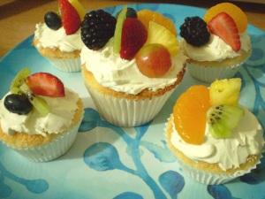 Angel fruit cupcakes