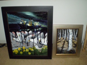 Paintings framed for AAS exhibition 2010