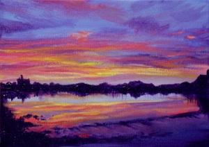Sunset at Coquet River weir