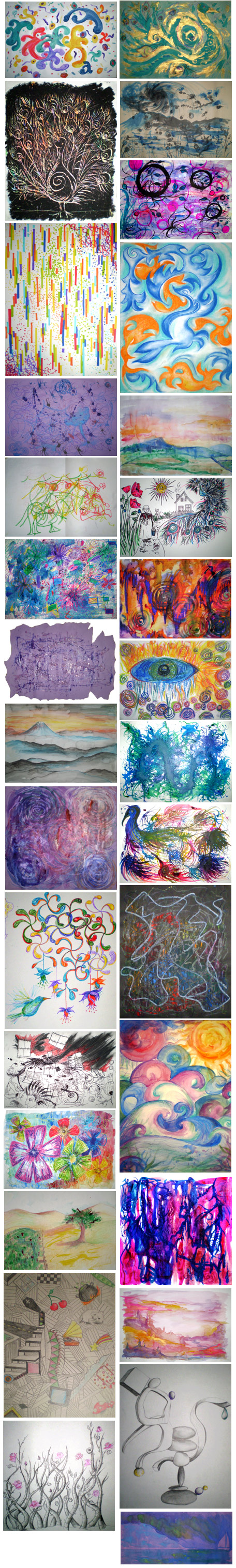A year of art therapy