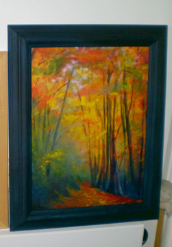 Autumn Walk Framed