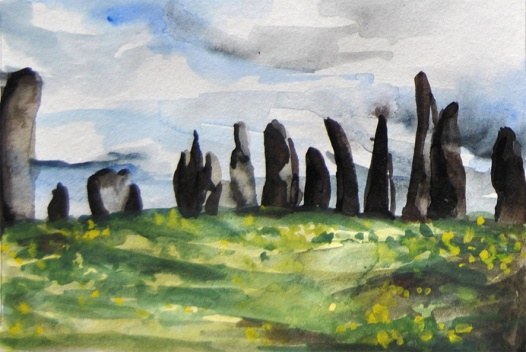 Postcard 5 (Standing Stones at Callanish, Lewis)