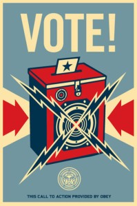 Vintage Vote poster by Obey