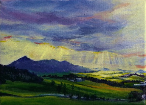 Bennachie Sunshine, May 2015 Commissioned Painting