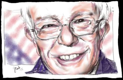 Bernie Sanders drawing by G. Cseh