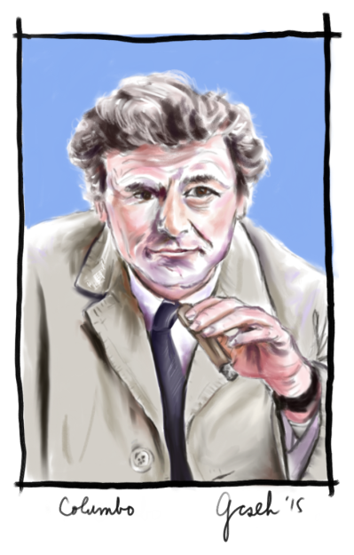 Columbo drawing by G. Cseh